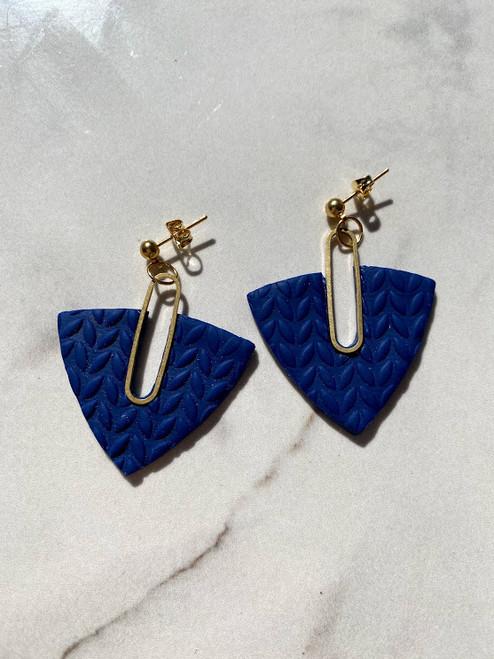 Blue Textured Drop