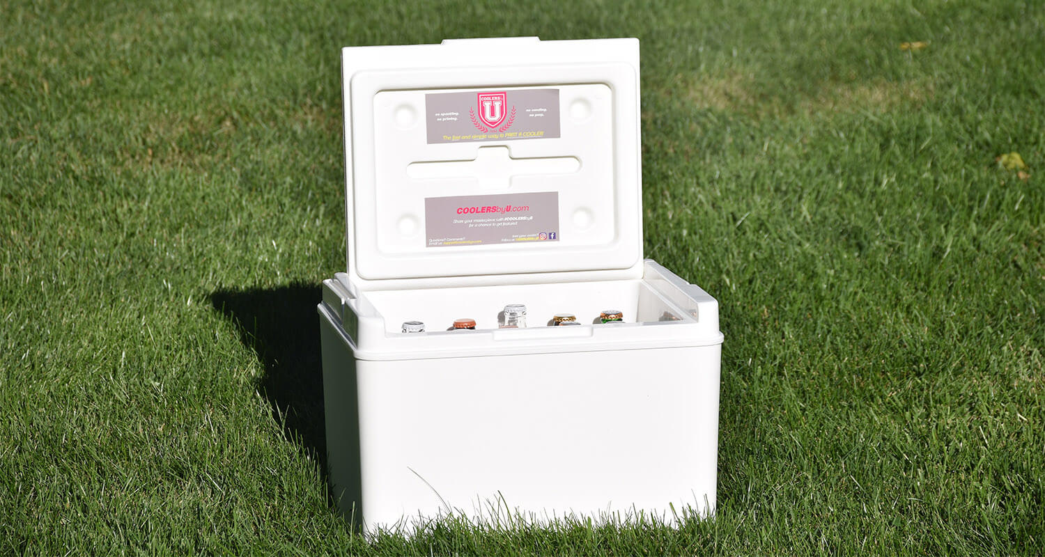 Enjoy a custom painted fraternity cooler. COOLERSbyU the best way to paint a cooler.