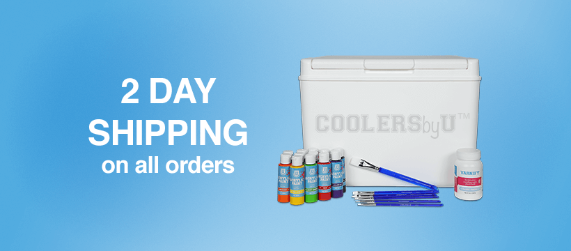 Ready to paint cooler kits with 2-day shipping nation wide