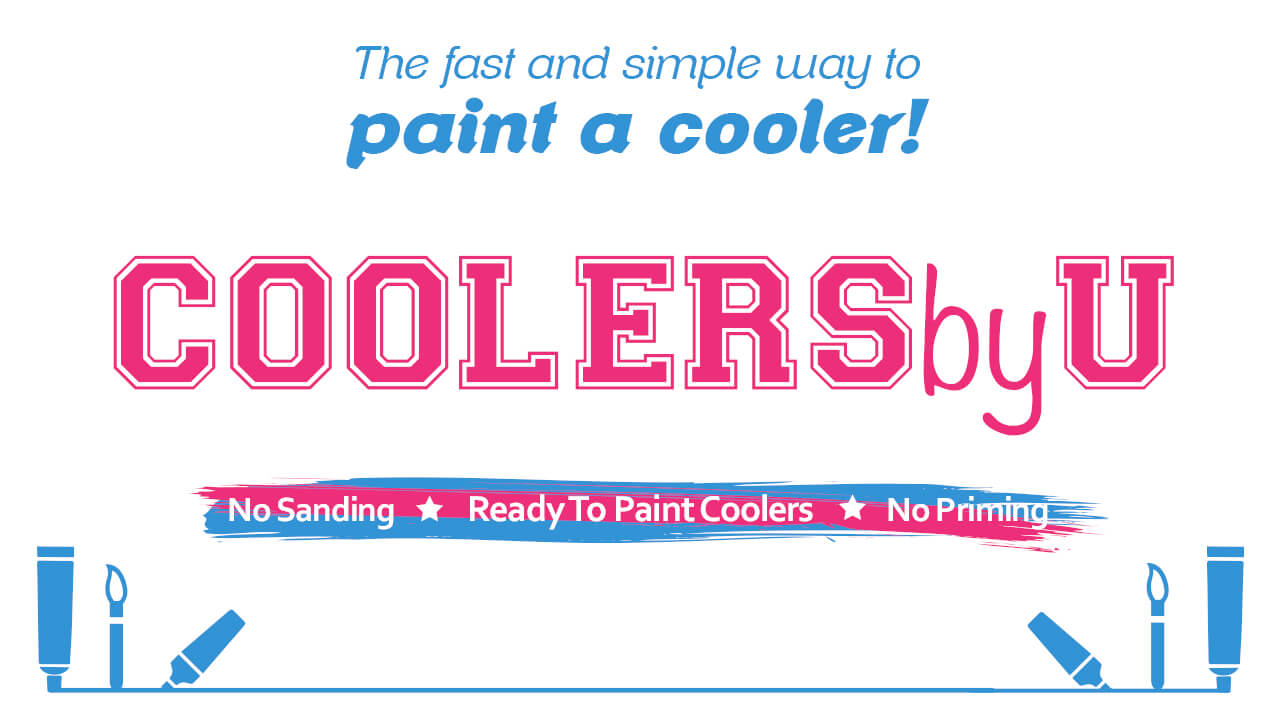 Paint a cooler without sanding or priming!