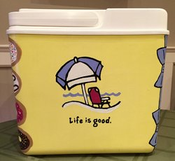 life is good custom hand painted cooler