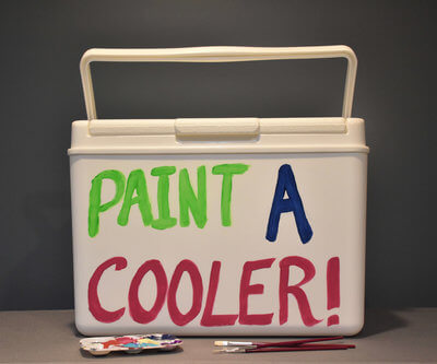 paint your own custom cooler with coolersbyu. No sanding or priming required.