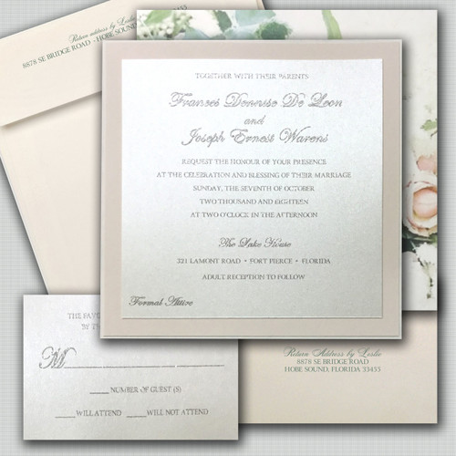 Sophisticated Bride Wedding Invitations
