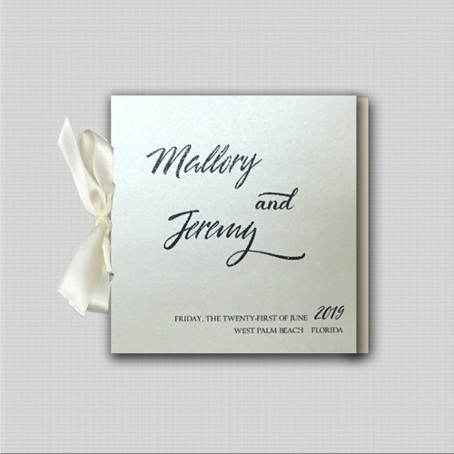 Mallory Dot Ribbon Wedding Programs wholesale affiliate program wedding planner leslie store