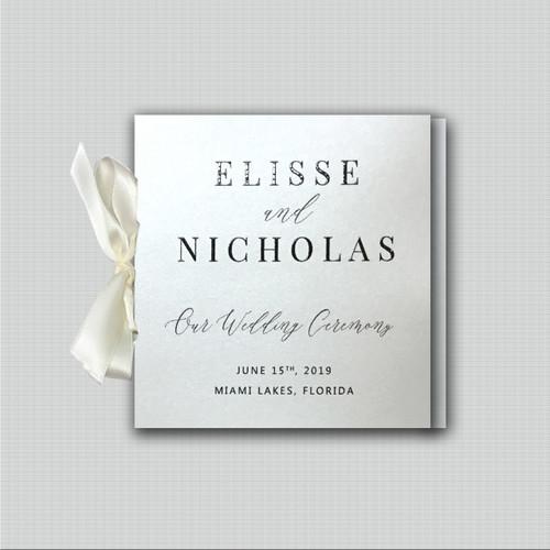 Timeless Ribbon Wedding Programs wholesale affiliate program wedding planner leslie store