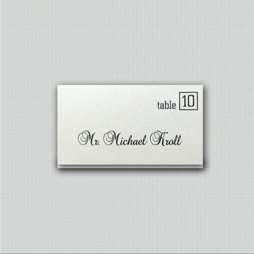 Formal Place Cards
