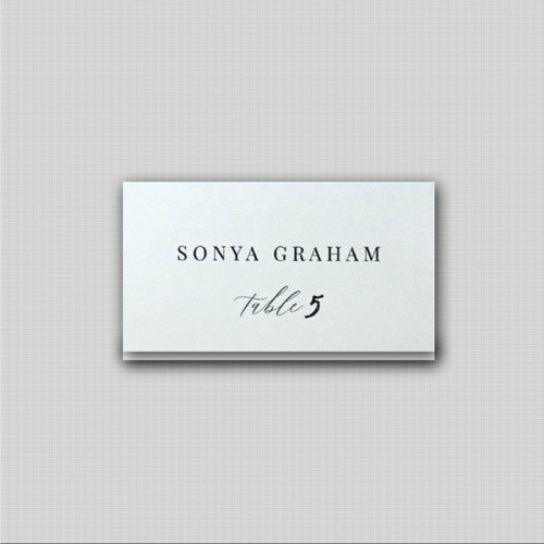 Timeless Place Cards