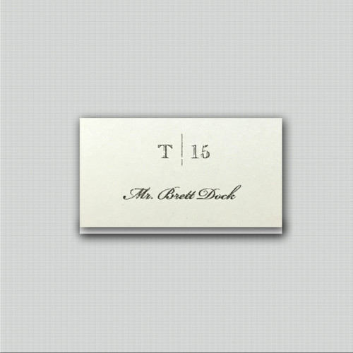 Classic Blue Place Cards