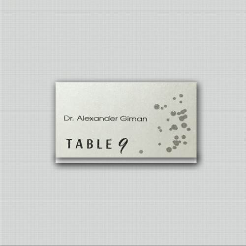 Champagne Dots Place Cards
