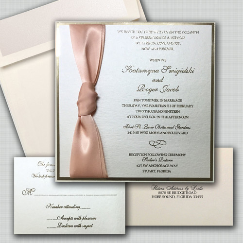 Petal Peach Wedding Invitations