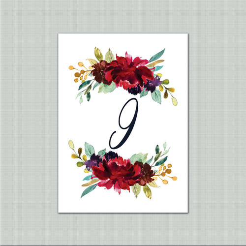 Pop of Color Table Numbers