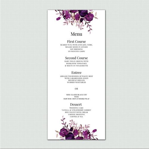 Briana Wedding Menu wholesale wedding planner affiliate program leslie store