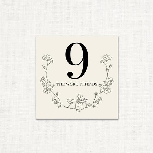 Grace Table Numbers wholesale wedding planner affiliate program leslie store
