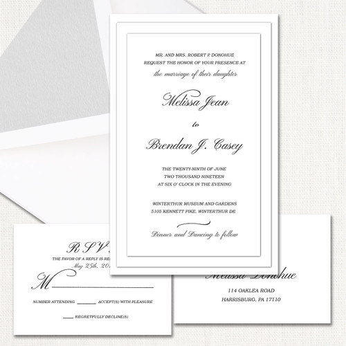 Melissa White Wedding Invitations wholesale wedding planner affiliate program leslie store