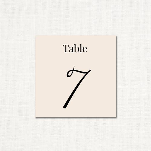Kelly Table Numbers wholesale wedding planner affiliate program leslie store