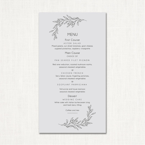 Ana Wedding Menu wholesale wedding planner affiliate program leslie store