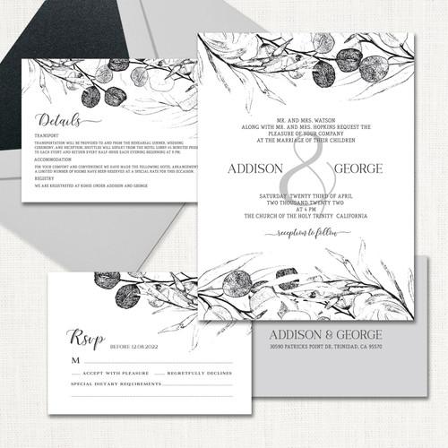 Addison Wedding Invitations wholesale affiliate program wedding planner leslie store