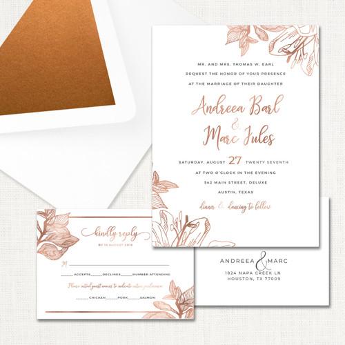 Andreea Wedding Invitations wholesale affiliate program wedding planner leslie store