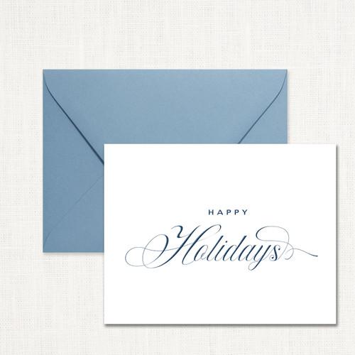 Traditional Happy Holidays Note Set wholesale wedding planner affiliate program leslie store