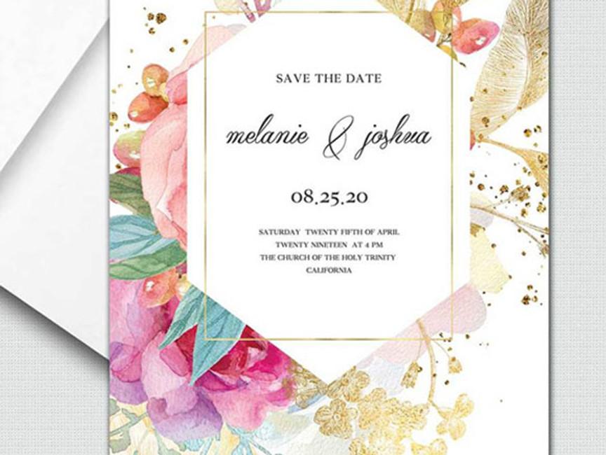 Sophisticated Bride Wedding Invitations