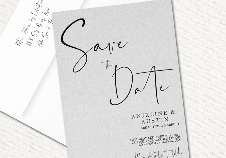 Anjeline Save the Date Cards