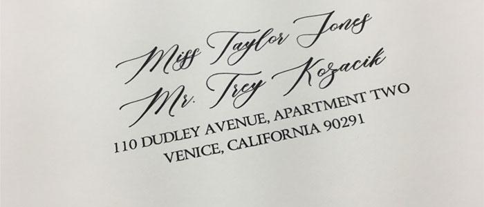 envelopes addressing print