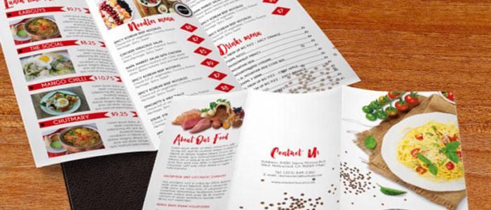 water proof menu