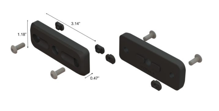 MDT M-LOK Exterior Forend Weights dimensions