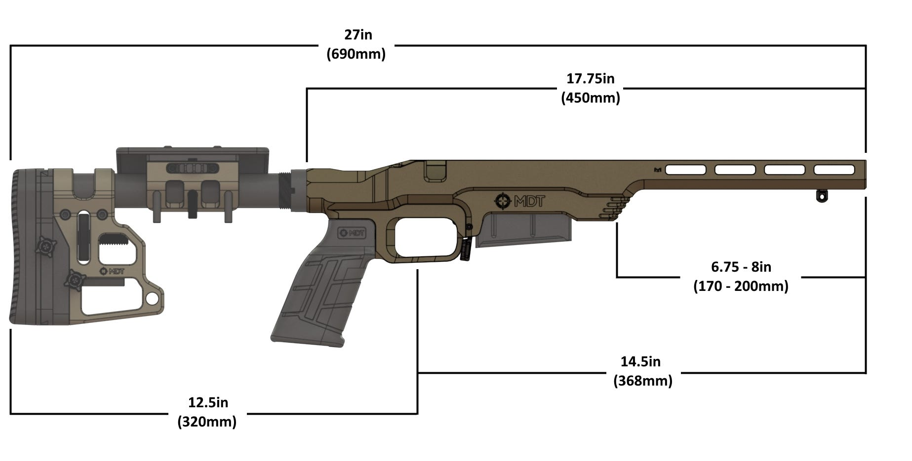 MDT LSS Gen2 Chassis System dimensions
