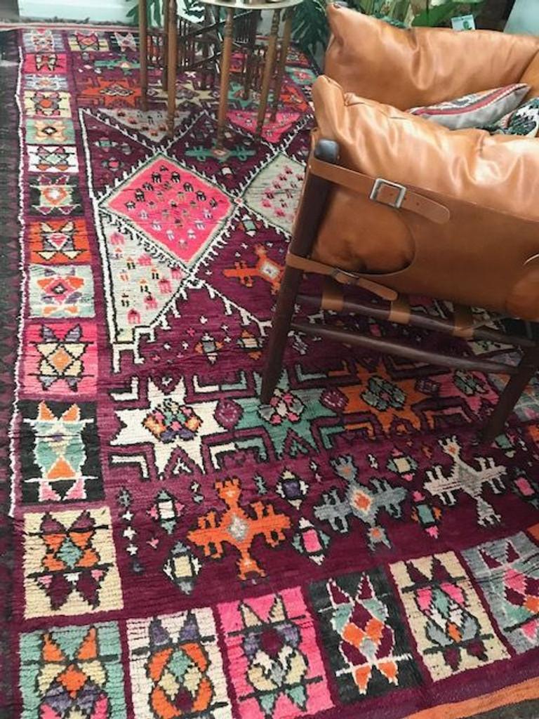 Goddess Astraea Vintage Boujaad Rug
