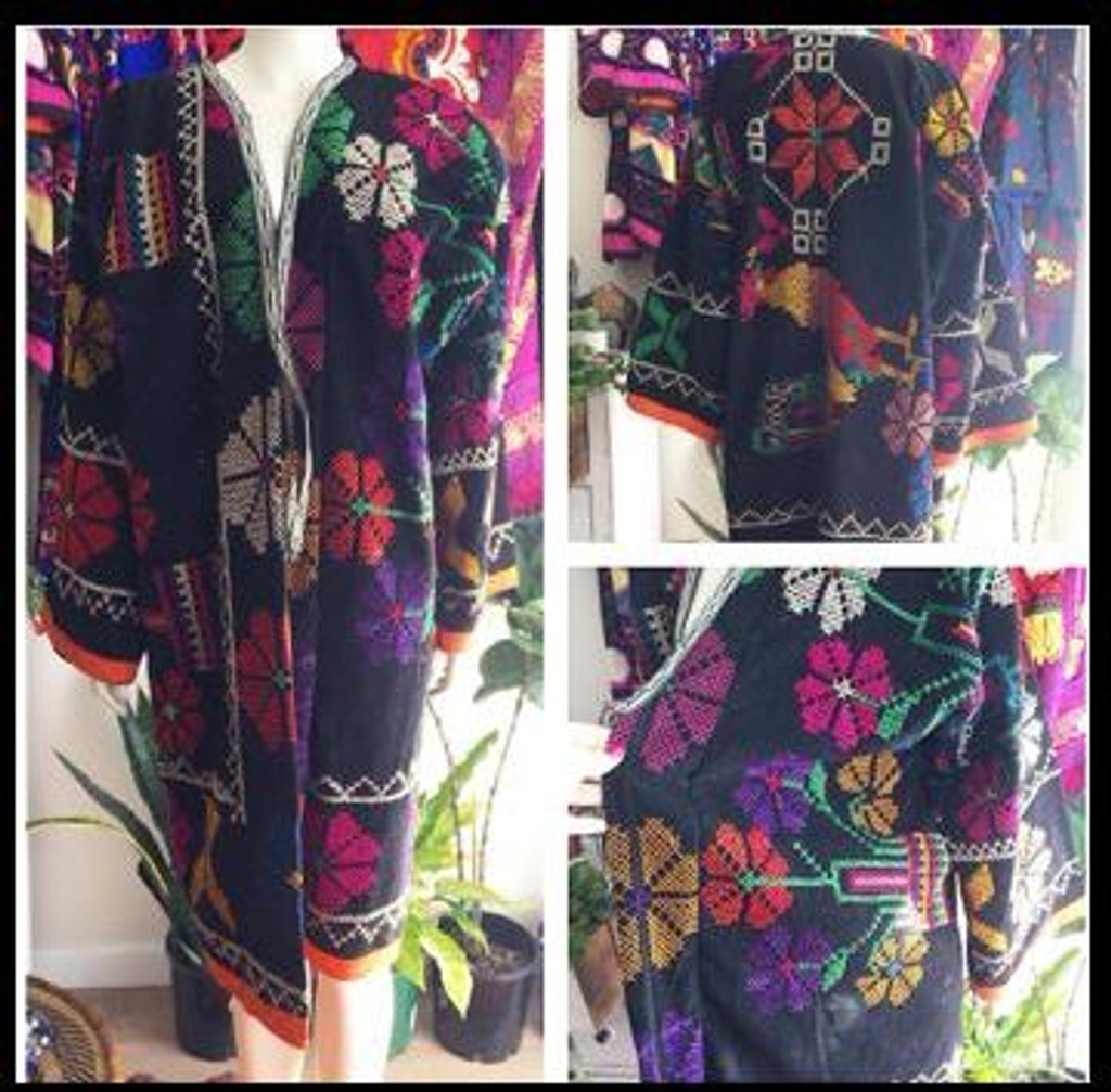 Rainbow Suzani Coat