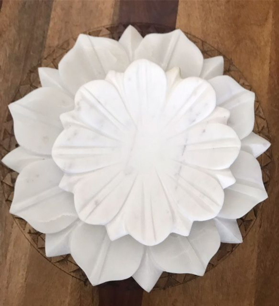 Large Marble Lotus Bowl