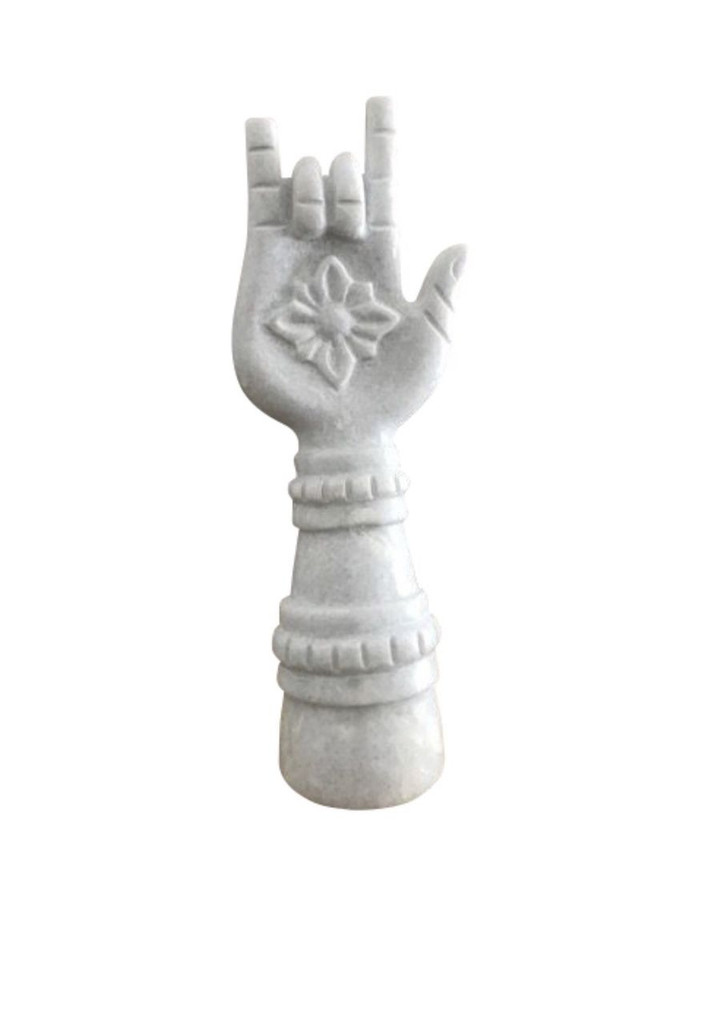 "Marble Hand Carved ""I love you"" Hand"