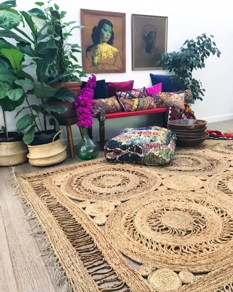 Large Infinity Hand Made Jute Rug