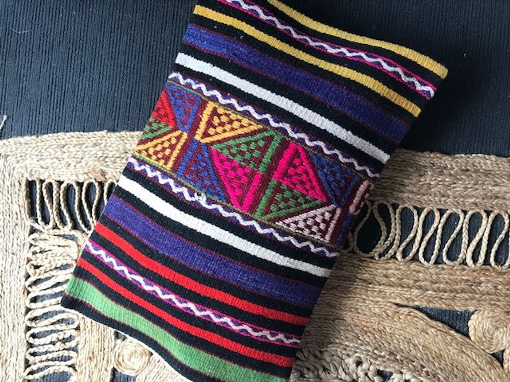 Guatemala Kilim Lumbar Cushion - XL