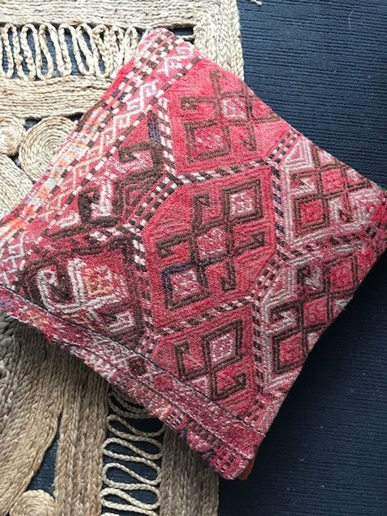 Coral Kilim Cushion - XL