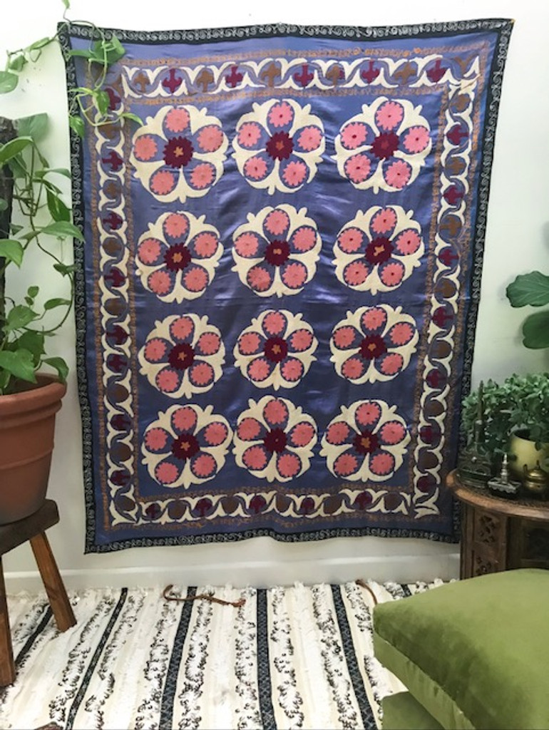 A hand embroidered suzani