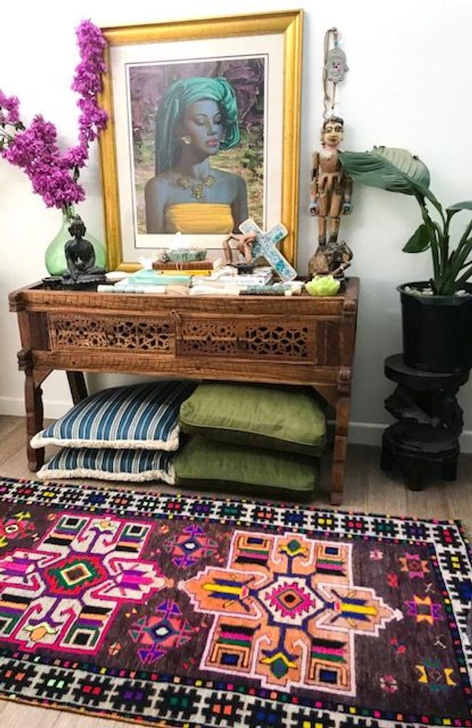 Iranian Vintage Herki Rug