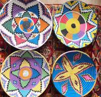 Blue Chefchaouen African Basket