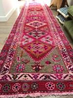 Iranian Vintage Herki Pink Rug