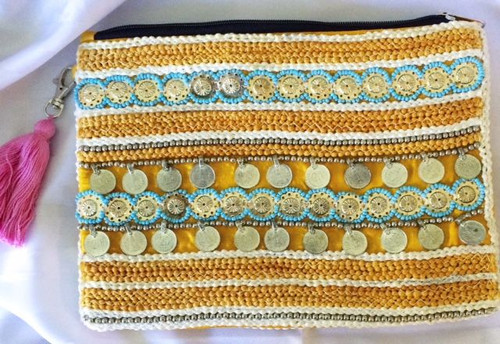 Moroccan 'Summertime' Goddess Coin Clutch