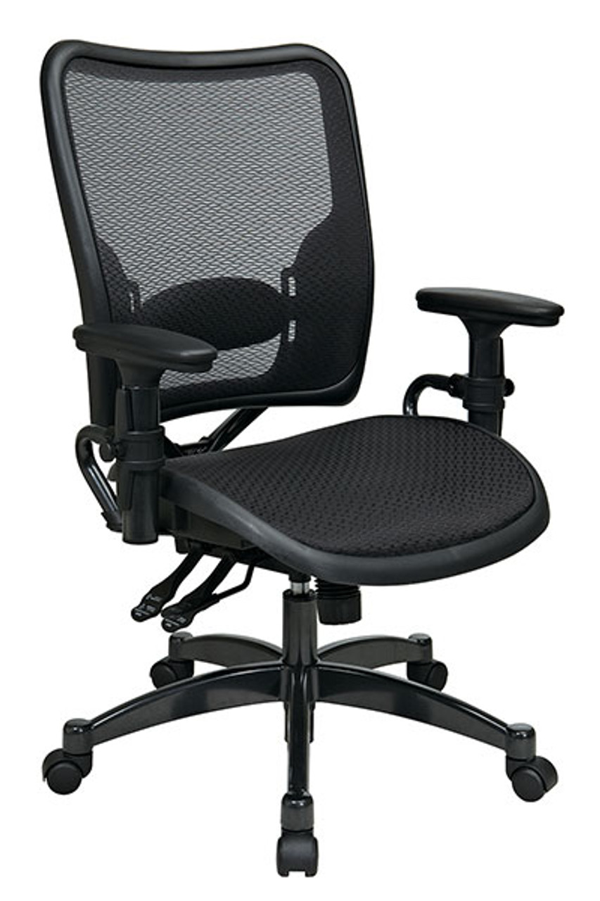 Prime Professional Dual Function Ergonomics Airgrid Seat And Back Chair With Gunmetal Finish Accents Theyellowbook Wood Chair Design Ideas Theyellowbookinfo