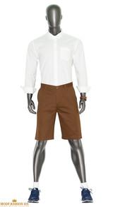 brown chino shorts