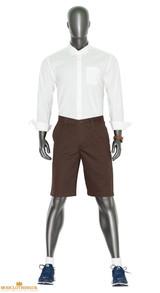 dark brown chino shorts