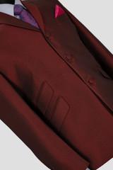 burgundy tonic suit