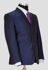 navy blue tonic suit