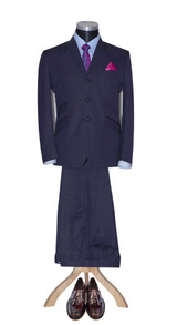Mod suit | Gordon Waller slim fit classic navy blue suit