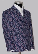 Paisley bespoke mod suit for men 1960's retro style