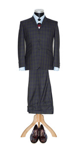 Mod suit | Ringo Starr tailor made  green tartan wool suit
