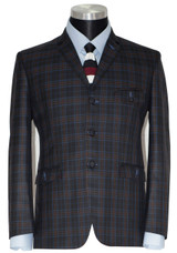 charcoal check sports jackets